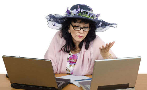 women reviwing electronic medical record