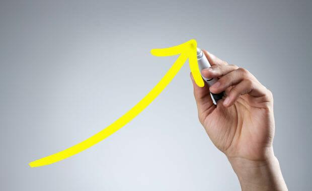 Get higher reimbursement rates with hand drawing an upward arrow